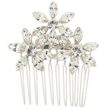 Karen Marie - Bridal Collection - Triple Flower Side Comb (1)