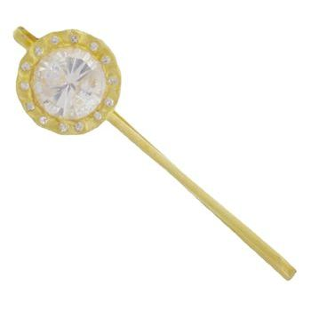 Kevia - 22k Gold - Princess' Crown Crystal Bobby Pin