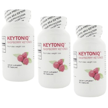 KEYTONIQ Raspberry Ketones - 100% Pure - (3 bottles - 90 days)