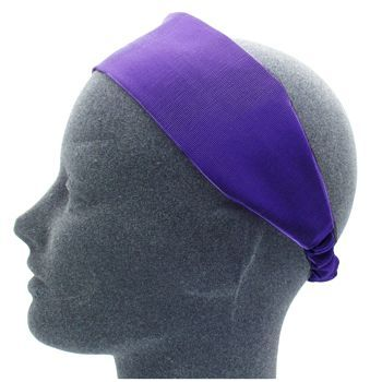 L. Erickson USA - Wide Headband w/ Elastic - Grosgrain - Purple