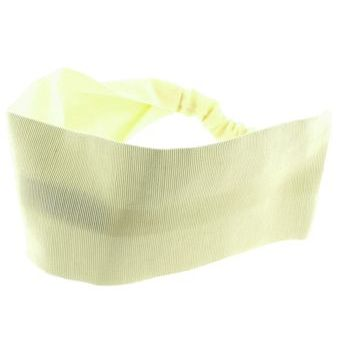 L. Erickson USA - Wide Headband w/ Elastic - Grosgrain - Cream