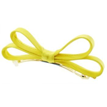 L. Erickson USA - Small Charmeuse Couture Bow Barrette - Yellow
