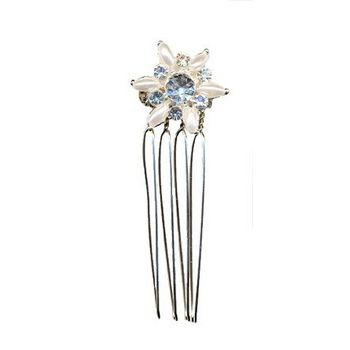 Betty Wales - Pearl & Crystal Star Hairpin