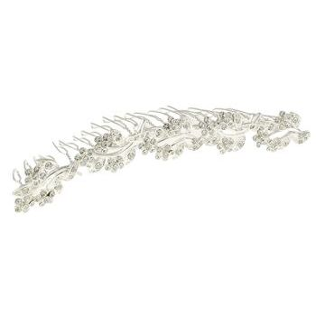Betty Wales - Crystal Flower Large Hair Comb