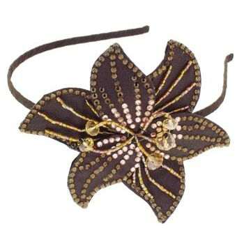 L. Erickson - Sparkler Headband - Chocolate