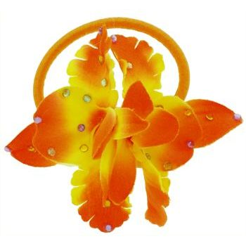 L. Erickson - Crystal Flower Pony - Orange/Yellow