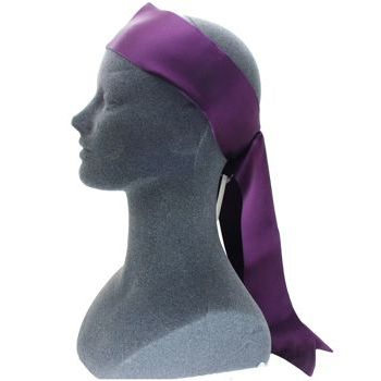 L. Erickson USA - Soft Headband w/ Elastic Loop - Silk Charmeuse - Plum