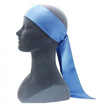 L. Erickson USA - Soft Headband w/ Elastic Loop - Silk Charmeuse - French Blue