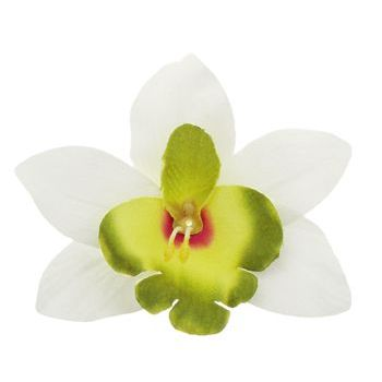 Karen Marie - Le Fleur Collection - Large Cymbidium Orchid - White w/Lime (1)