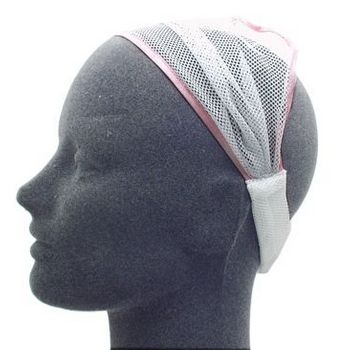 HB HairJewels - Lucy Collection - Net Soft Headband - White (1)