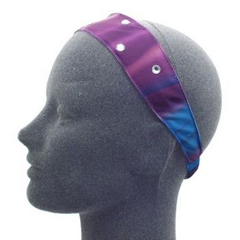HB HairJewels - Lucy Collection - Rainbow Satin Inspired Band - Violet