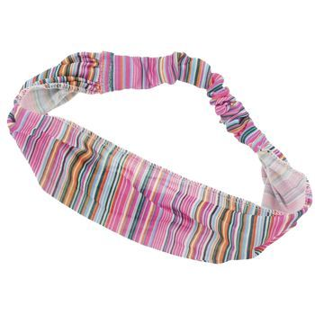 HB HairJewels - Lucy Collection - Sheer Tiny Stripe Soft Headband - Pink (1)