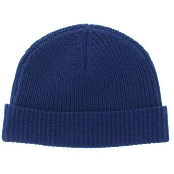 Karen Marie Men's Collection - Cashmere Classics - 100% Cashmere Cardigan Stitch Hat - Admiral Navy