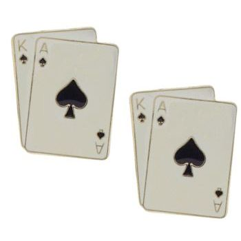 Michael Thornton - Cuff Links - Black Jack