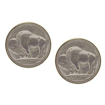 Michael Thornton - Cuff Links - Vintage Buffalo Nickel