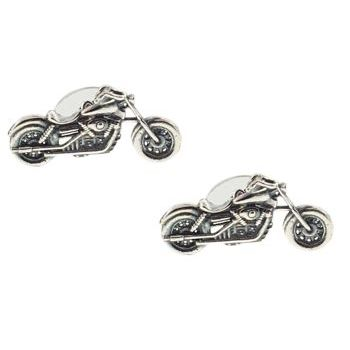Michael Thornton - Sterling Silver Cuff Links - Motorcycle