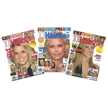 HairBoutique Beauty Bargains - Magazine Collection - 101 Celebrity Hairstyles - 2004 Spring/Summer Issues (Set of 3)