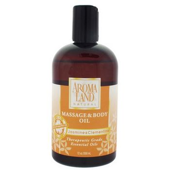 AROMALAND - Massage and Body Oil - Jasmine and Clementine 12 oz (350ml)