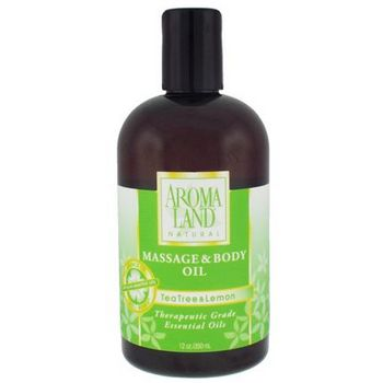 AROMALAND - Massage and Body Oil - Tea Tree and Lemon 12 oz (350ml)