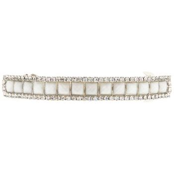 Medusa's Heirlooms - Gem & Crystal Curved Barrette - Ivory Hue (1)