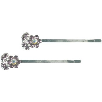 HB HairJewels - Crystal flower hairpin w/o stem - Light Amethyst