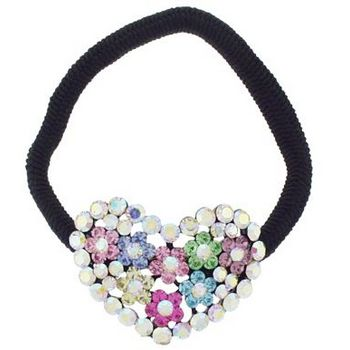 Karen Marie - Crystal Bouquet Pony Elastic - Heart  (1)