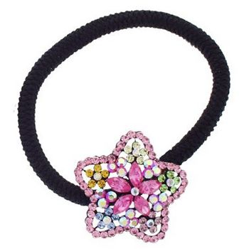 Karen Marie - Crystal Star Starflower Bouquet Pony Elastic - Pink (1)