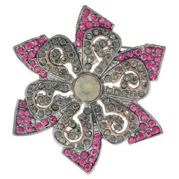 Karen Marie - Star Shaped Brooch Pin (1) - Coral