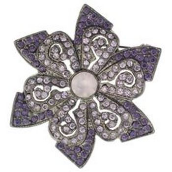 Karen Marie - Star Shaped Brooch Pin (1) - Lilac