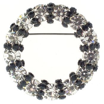 Karen Marie - Circular Brooch Pin (1) - Night