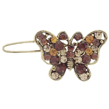 Karen Marie - Monarch Crystal Butterfly Clip - Gold (1)