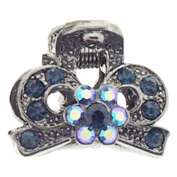 Karen Marie - Mini Regal Claw Clip - Blue (1)