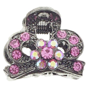 Karen Marie - Mini Regal Claw Clip - Rose (1)