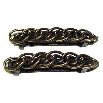 HB HairJewels - Cable Barrette - 2 Bronze Colored