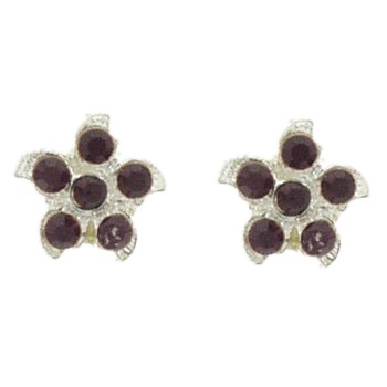 HB HairJewels - Austrian Crystal Flower Magnets- Ruby (set of 2)