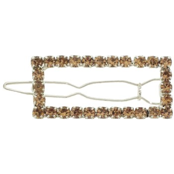 Karen Marie - Small Open Square Hair Clip - Gold (1)