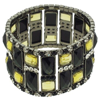 Medusa's Heirlooms - Art Deco Block Bracelet - Black
