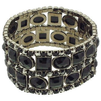 Medusa's Heirlooms - Art Deco Bracelet - Black