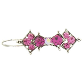 Karen Marie - Mini Crystal Barrette - Rose (1)