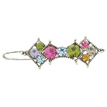 Karen Marie - Mini Crystal Barrette - Multi Hue (1)