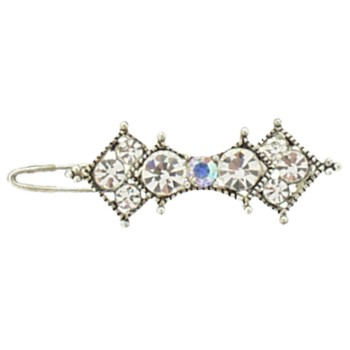 Karen Marie - Mini Crystal Barrette - White (1)