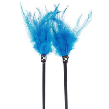 HB HairJewels - Feathered Hairsticks - Turquoise - Set of 2