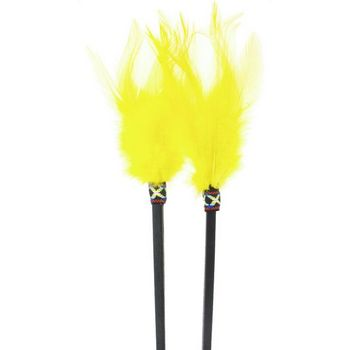 HB HairJewels - Feathered Hairsticks - Yellow - Set of 2