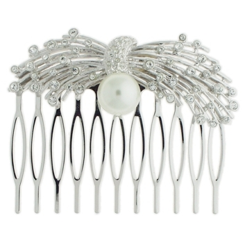 Karen Marie - Bridal Collection - Crystal & Pearl Sparkler Comb (1)
