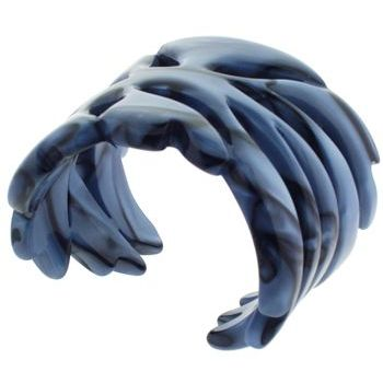 Karen Marie - Deep Blue Sea Cuff w/Dark Marble Swirls (1)