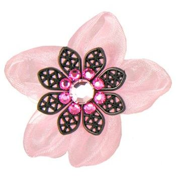 Tarina Tarantino - Electric Butterfly Organza Flower Ring - Pink