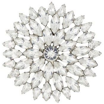 Rachel Abroms - Clear Crystal Round Brooch (1)