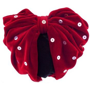 Karen Marie - Snood Collection - Large Velvet Snood with Large Sequins - Red