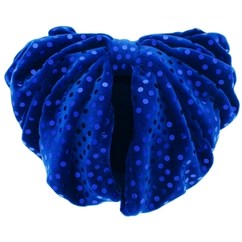 Karen Marie - Snood Collection - Large Velvet Snood with Sequins - Blue
