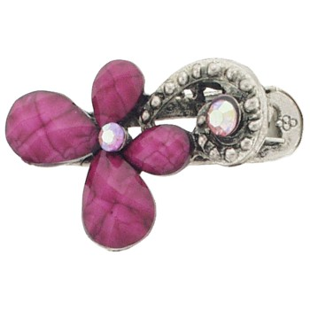 SOHO BEAT - French Fashionista - Moonstone and Crystal Flowering Claw Clip - Delectable Plum (1)